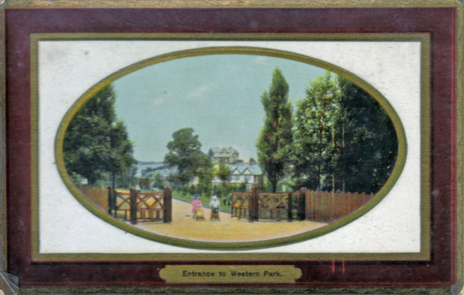 Western Park, Leicester. Undated: Entrance gates to Western Park. (File:1008)