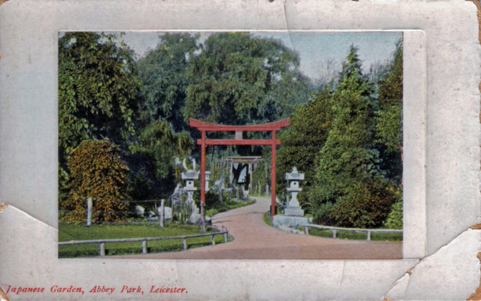 Abbey Park, Leicester. 1901-1920: Entrance to Japanese Garden. (File:1021)