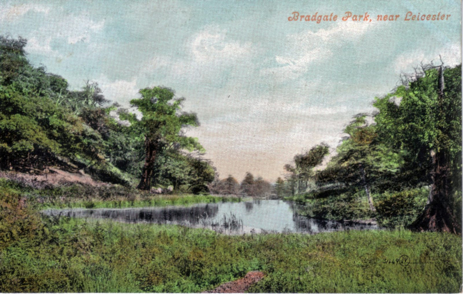 Bradgate Park, Leicester. 1901-1920: General view of river. Franked 1907 (File:1133)