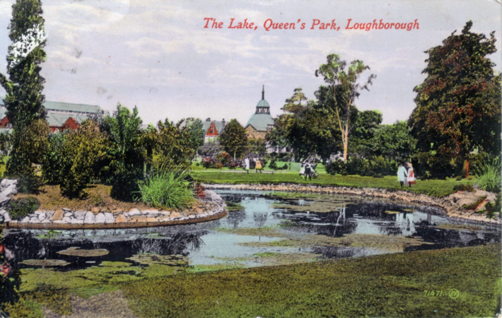 Queens Park, Loughborough. 1901-1920: The Lake. Franked 1912 (File:1203)