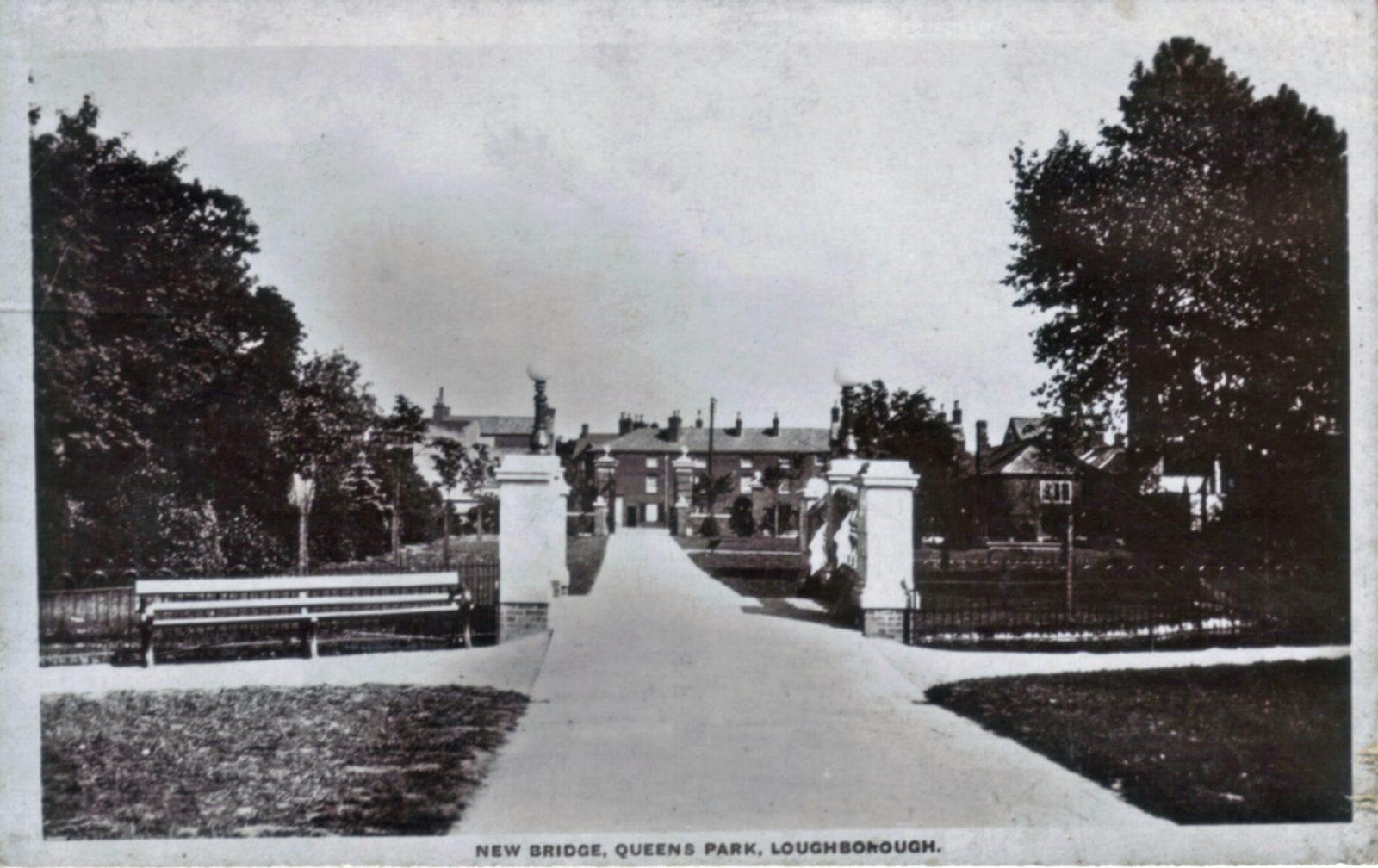 Queens Park, Loughborough. Undated: New Bridge. (File:1253)