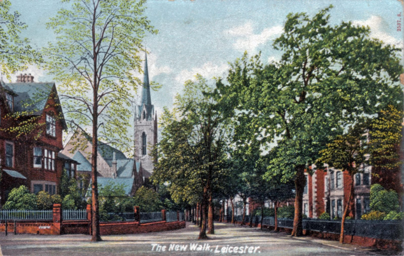 New Walk, Leicester. Undated: General view. (File:1299)