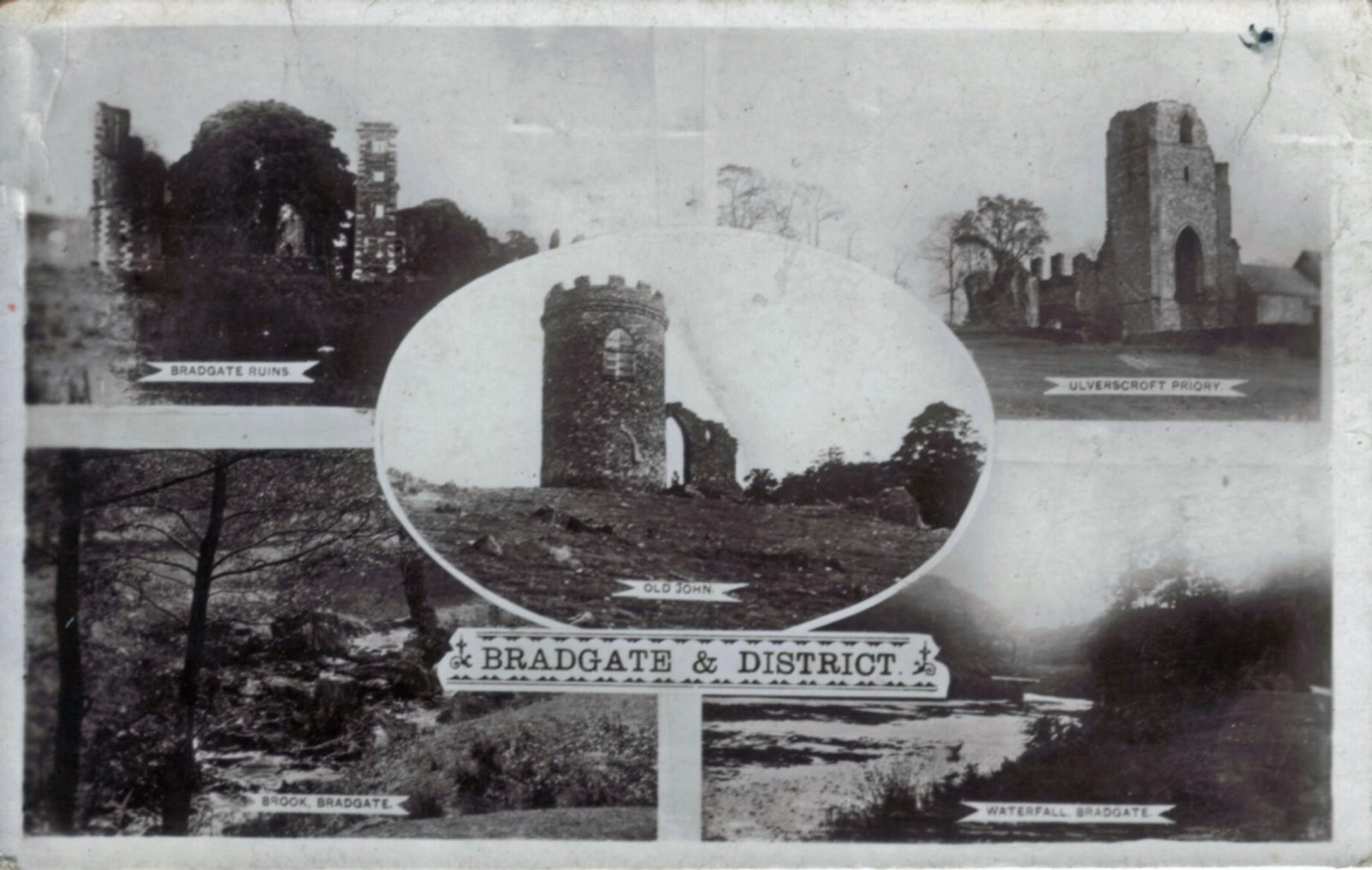 Bradgate Park, Leicester. 1901-1920: Various views of Bradgate, also Ulverscroft Priory. Posted 1918-21 (File:1309)