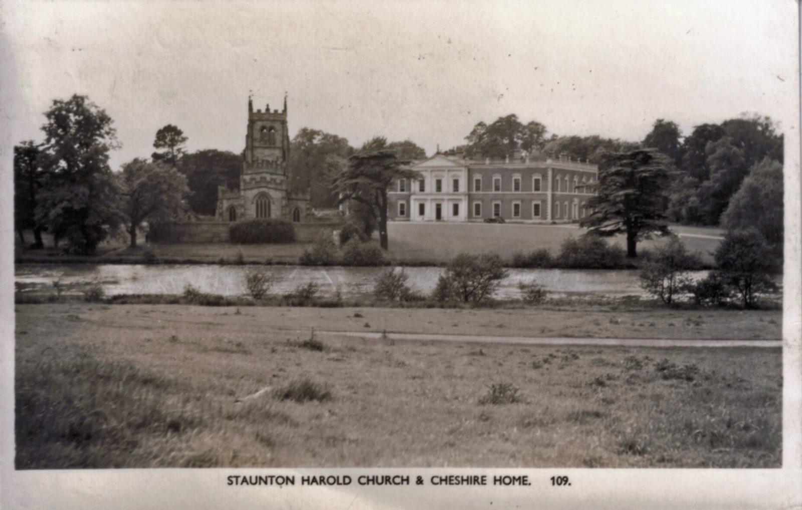Staunton Harold, Ashby-De-La-Zouch. Undated: Staunton Harold Church and Hall (Cheshire Home). (File:1389)