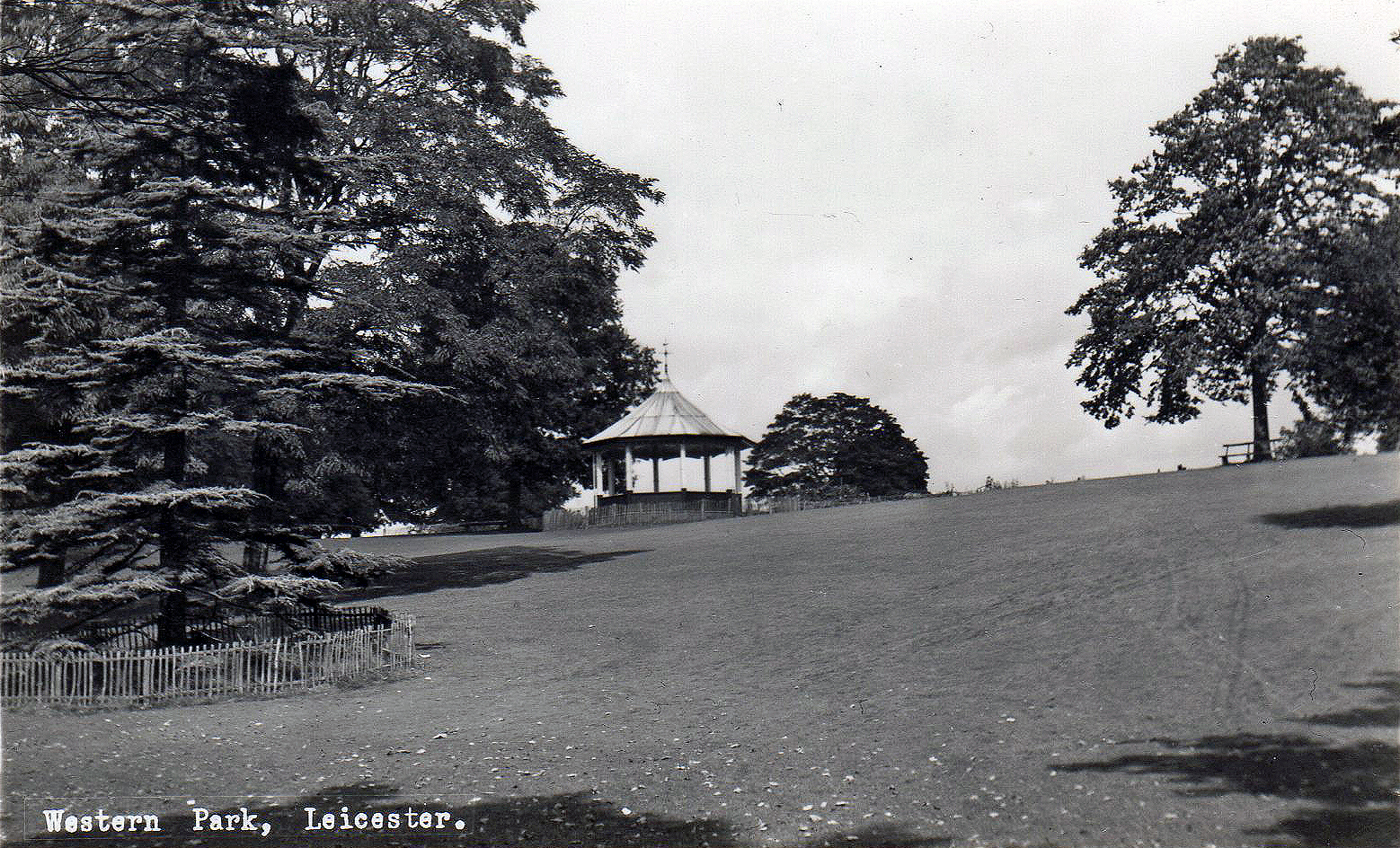 Western Park, Leicester. Undated: View with the bandstand (File:1527)
