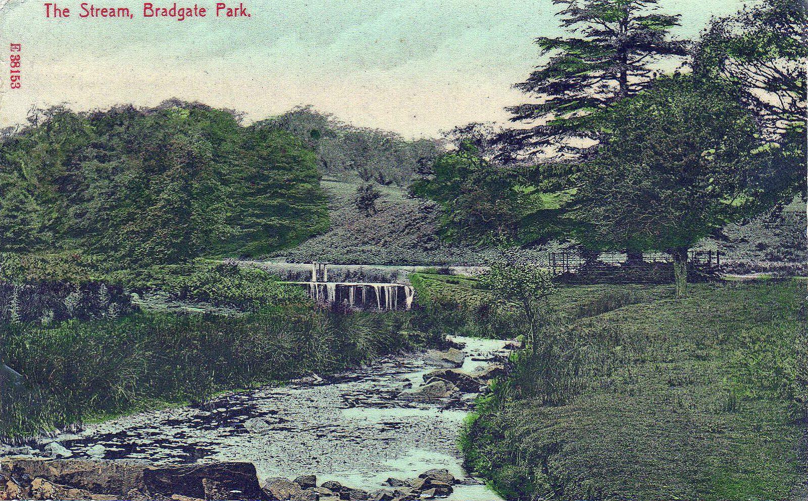 Bradgate Park, Leicester. 1901-1920: The stream and cascade (File:1533)